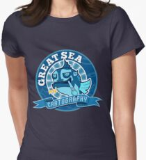 Great Sea Cartography Women's Fitted T-Shirt