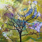 Wish Tree, Original WishTree Abstract Nature by Dmitri Matkovsky