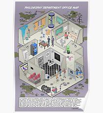 Karte der Abteilung für Philosophie Poster