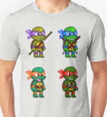 Camiseta unisex Teenage Mutant Ninja Turtles Pixels