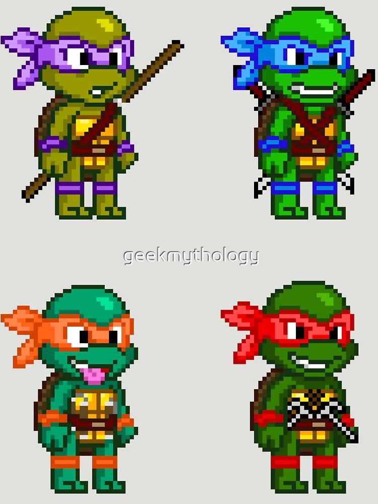 Teenage Mutant Ninja Turtles Pixels by geekmythology