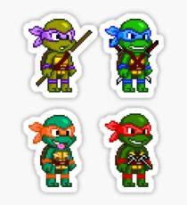 Teenage Mutant Ninja Turtles Pixels Sticker