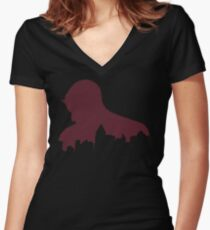 A World on Fire Women's Fitted V-Neck T-Shirt