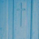 Santorini door cross by LoveAphoto