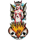 Traditional Devil Woman Tattoo Design by FOREVER TRUE TATTOO