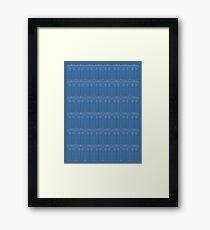 Doctor Who TARDIS Blueprint Pattern Framed Print