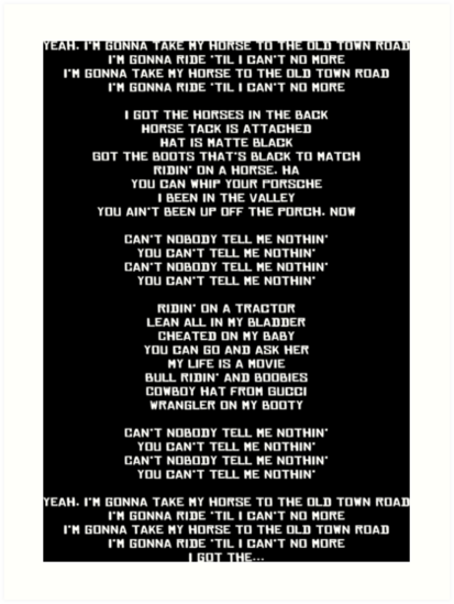 Lyrics old town road