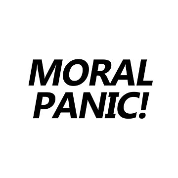 Moral Panic Bold Text design by GetItGiftIt