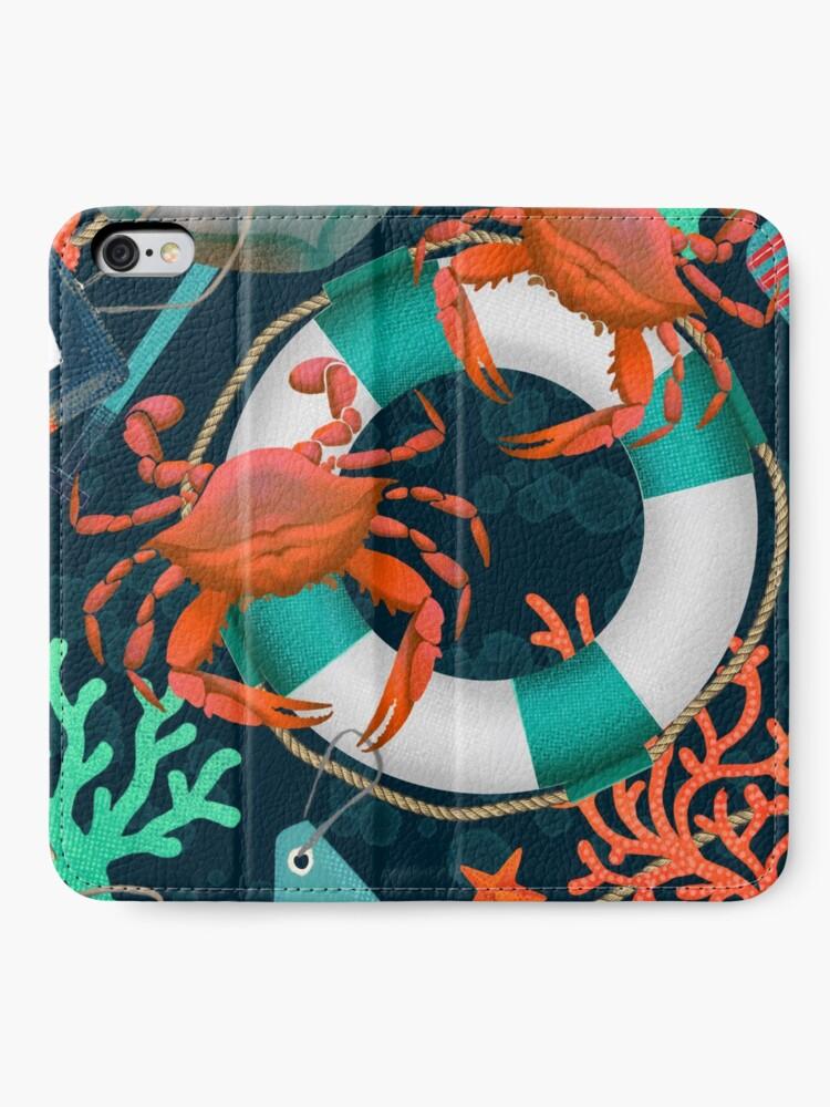 Alternate view of nautical junkyard iPhone Wallet