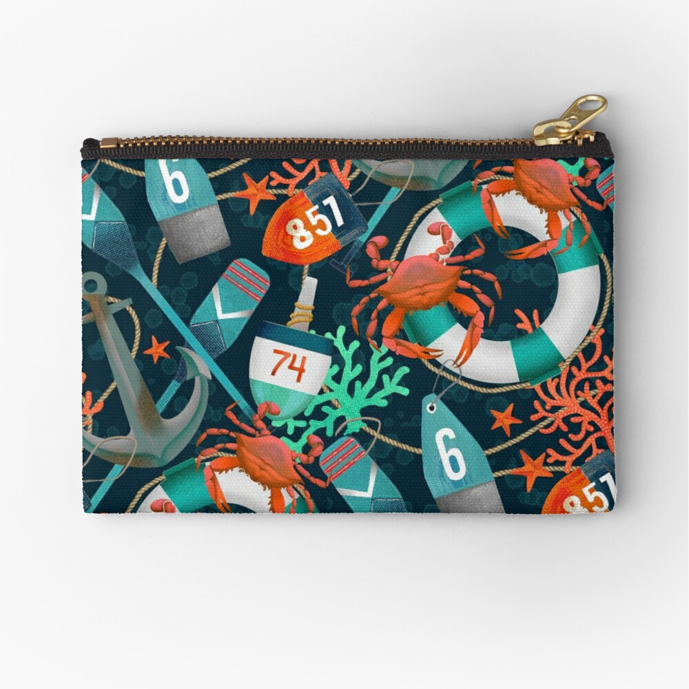 nautical junkyard Zipper Pouch