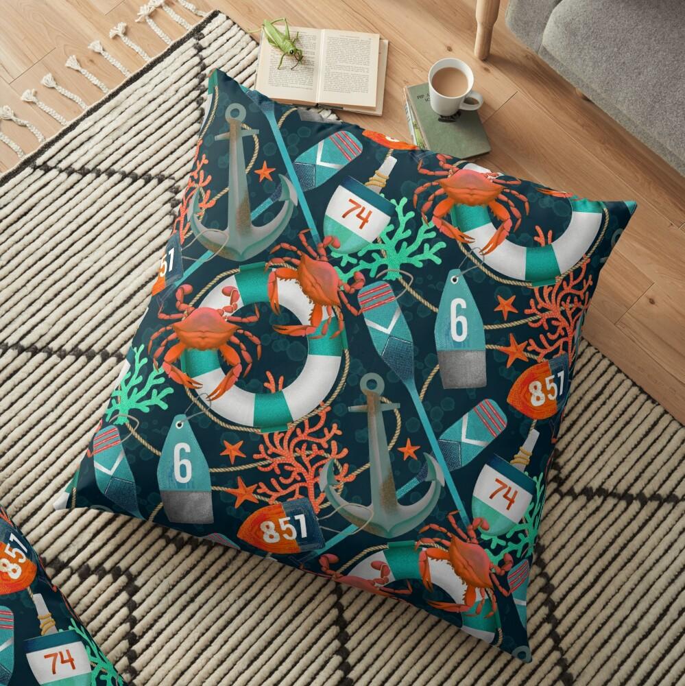 nautical junkyard Floor Pillow
