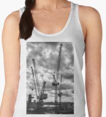 Tower Cranes on City of London Skyline Women's Tank Top