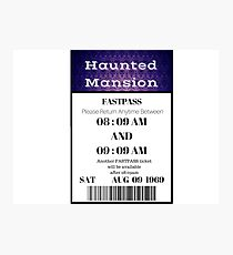Mansion Fastpass Photographic Print