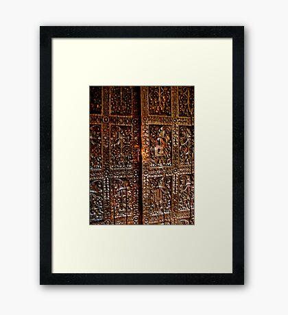 Old Door in La Paz Framed Print