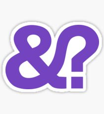 And? &? Ampersand Question Mark - Purple Logo Original Design Sticker
