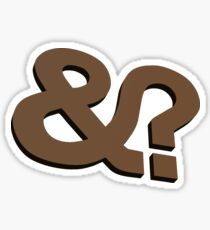 And? &? Ampersand Question Mark - 3D Brown Logo Original Design Sticker
