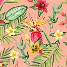 «Pájaros tropicales y flores» de JuliaBadeeva