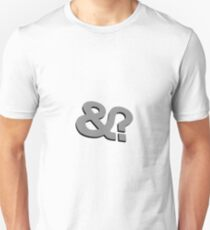 And? &? Ampersand Question Mark - 3D Gray (Grey) Logo Original Design Slim Fit T-Shirt