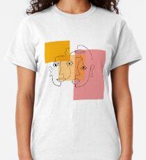 COLOR BLOCK LINE FACES Classic T-Shirt