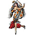 Traditional Spanish Dancer Tattoo Design by FOREVER TRUE TATTOO