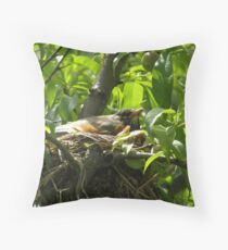 Robins of Spring Throw Pillow