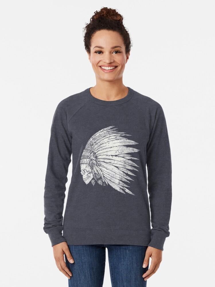 Alternate view of Indian Skull Lightweight Sweatshirt