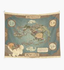 Avatar the Last Airbender Map Wall Tapestry