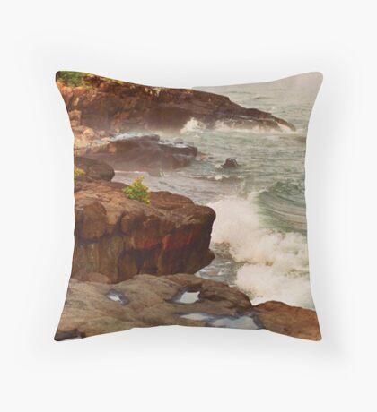 North Shore Shoreline Throw Pillow
