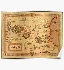 Karte von Narnia Poster
