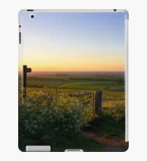 Oxfordshire at sunset from the Downs iPad Case/Skin