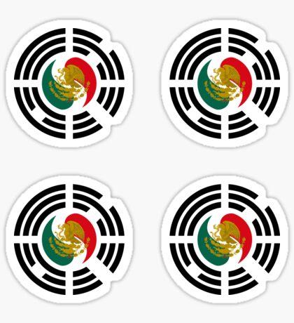 Korean Mexican Multinational Patriot Flag Series Glossy Sticker