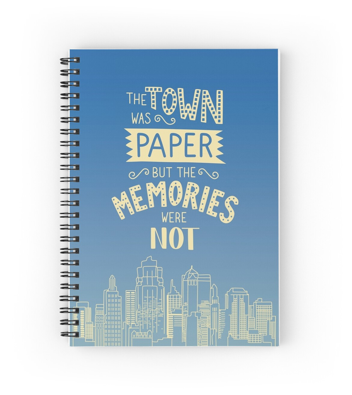 How To Cover A Notebook With Cover Paper ~ Quot paper towns john green quote spiral notebooks by