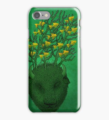 Sea Buffalo Dreaming Green Heart  iPhone Case/Skin