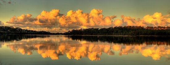 Let Us Reflect - Narrabeen Lakes, Sydney (35 Exposure HDR Panorama) - The HDR Experience by Philip Johnson