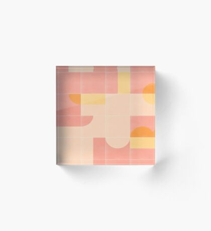 Retro Tiles 02 #redbubble #pattern Acrylic Block
