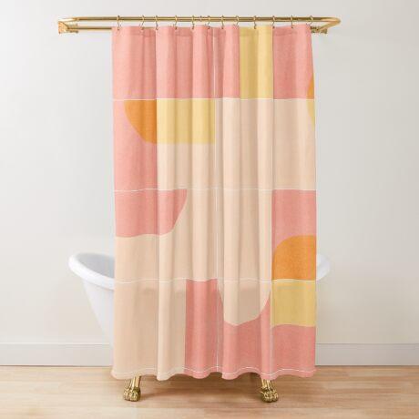 Retro Tiles 02 #redbubble #pattern Shower Curtain