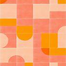 Retro Tiles 03 #redbubble #pattern by designdn