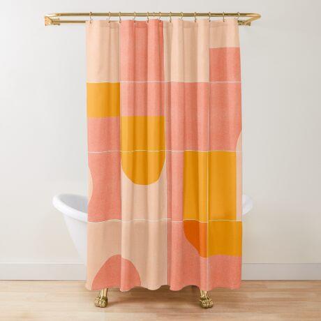 Retro Tiles 03 #redbubble #pattern Shower Curtain
