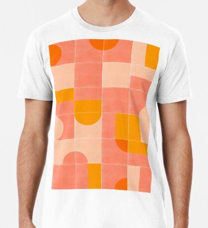 Retro Tiles 03 #redbubble #pattern Premium T-Shirt