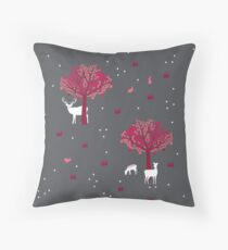A Walk in the Forest Throw Pillow