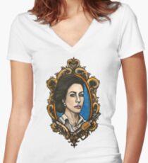 Helena G. Wells Women's Fitted V-Neck T-Shirt