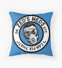 Zed's Meds Throw Pillow