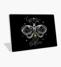 Glühwürmchen Motte Tattoo Turn Your Light On Laptop Skin