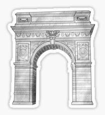 NYU Arch Grey Sticker