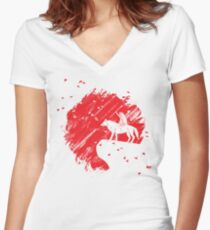 Rising San Women's Fitted V-Neck T-Shirt