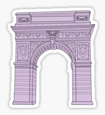 NYU Arch Purple Sticker