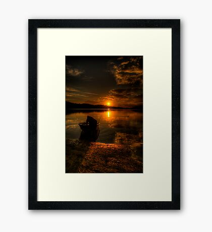 Into The Light - Narrabeen Lakes , Sydney - The HDR Experience Framed Print