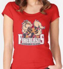 Cinnabar Island Fire Blasts: Arcanine Sport Logo Women's Fitted Scoop T-Shirt