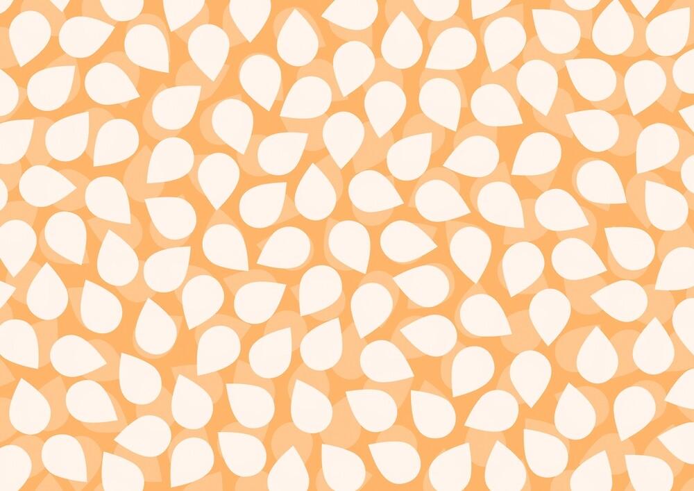Sakura Petal Snow Light Orange Spring Pattern by plantita