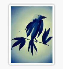 Sumi-e Indigo Bird Study Sticker